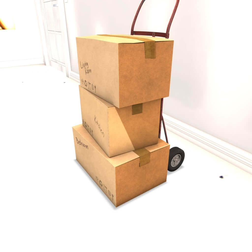 Second Spaces - Moving Day - handtruck - ready to go